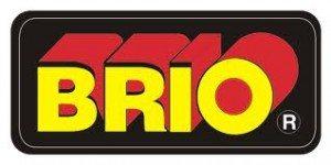 BRIO-butikkenes gamle og mer fargerike logo