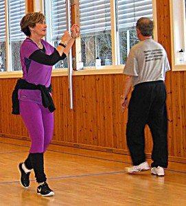 Treningsøktene på Krokeide rehabilitering holder et meget høyt nivå¨. Ikke minst takket være May Lisbeth Ohnstads dyktige ledelse. (Foto: johnsteffensen.no)
