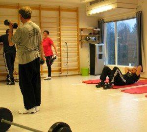 Fra Krokeide rehabilitering. Det lille treningsrommet. (Foto: johnsteffensen.no)
