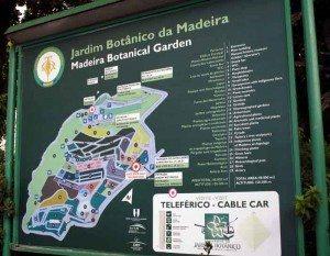 En infotavle som viser alt som møter deg i Jardim Botanico. Foto: johnsteffensen.no