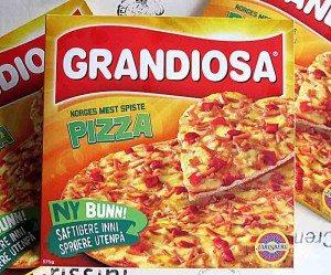Pizza Grandiosa. Min tidligere storfavoritt. Nå faller den til de grader gjennom. Den smaker ingen verdens ting. Bare salt! (Foto: johnsteffensen.no)