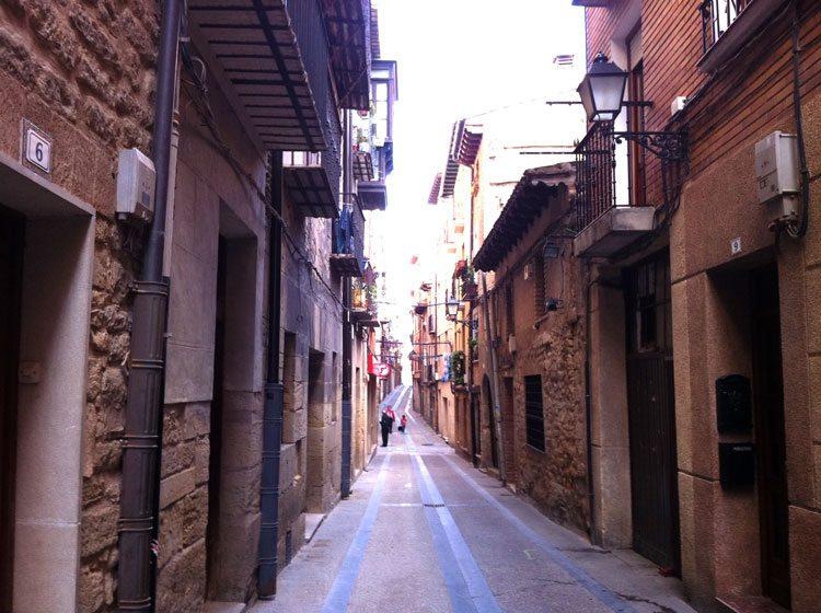 Pilegrimsveien er meget variert. Her fra en gate i Viana (Foto: Vigdis Asmervik Taule)