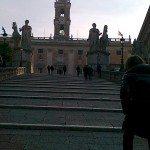 På Kapitolhøyden ligger i dag Rådhuset i Roma og Kapitolmuseene. (Foto: Britt Hilt Caspersen)