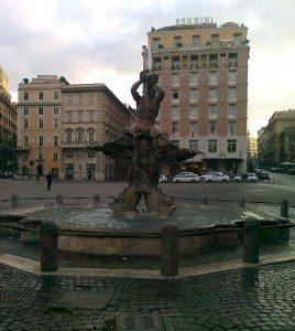 Jeg tar Metroen (undergrunnsbanen) tilbake til Piazza Barberini. (Foto: Britt Hilt Caspersen)