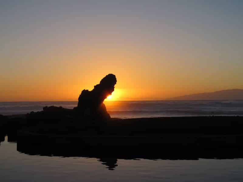 Solnedgangen fra strandpromenaden på Playa de las Americas var et fenomenalt skue. (Foto: John Steffensen)