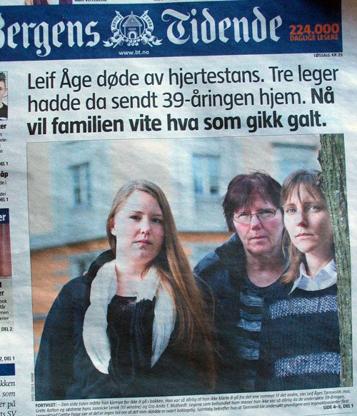 BT-faksimile av Leif Åges sak.