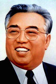 Kim Il sung, Nord-Koreas evige president.