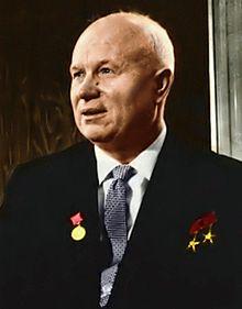 Nikita_Khruchchev (1894-1971) var Sovjetunionens leder under Cubakrisen i 1962. To år senere besøkte han Norge. Der fikk han blant annet hilse på lille meg...