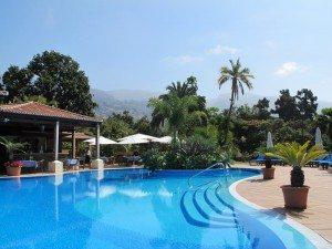 Quinta Jardins do Lago er Tripadvisors nr 1 hotell på Madeira. Her fra den praktfulle hagen. (Foto: johnsteffensen.no)
