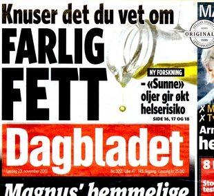 Faksimile av Dagbladet 23.11.2013 aa