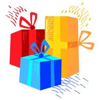 Alle gjestene har med seg en gave eller pakke til leken. Gaven bør ha en forhåndsavtalt pris. (www.johnsteffensen.no)