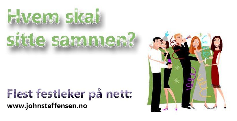 Selskapsleker for voksne fins på www.johnsteffensen.no