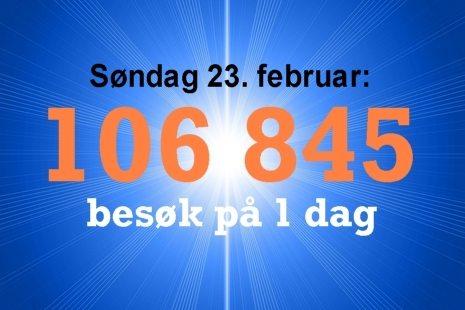 Over hundre tusen besøkende i løpet av 1 dag på www.johnsteffensen.no