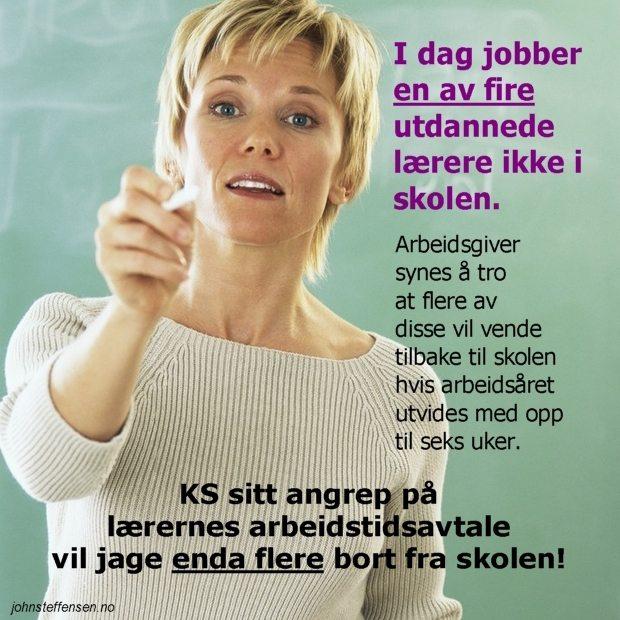 Flukten fra læreryrket: Enda flere lærere vil forsvinne fra norsk skole om KS sitt arbeidstidsforslag blir vedtatt.