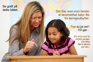Lærertetthet og KS