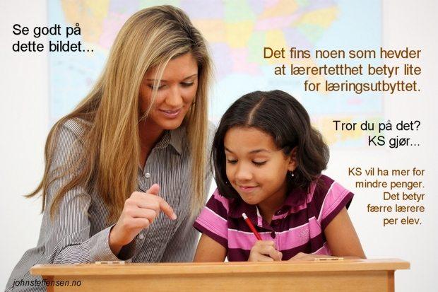 Noen hevder at lærertetthet betyr lite for læringsutbyttet... www.johnsteffensen.no