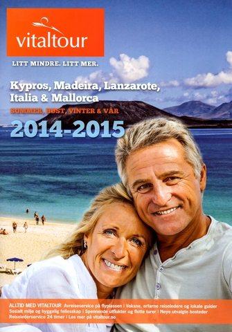 """Katalogen for Vitaltour 2014 -2015 presenterer bl.a. Madeira som reisemål, og øya blir trukket frem som et """"spektakulært reisemål av høy klasse""""."""