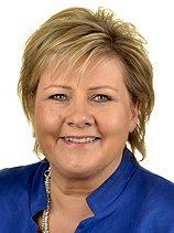 Erna Solberg (H). Norges statsminister.