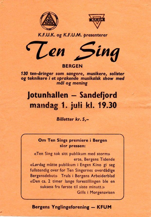 Flygeseddel for det store gjennombruddet 01.07.1968
