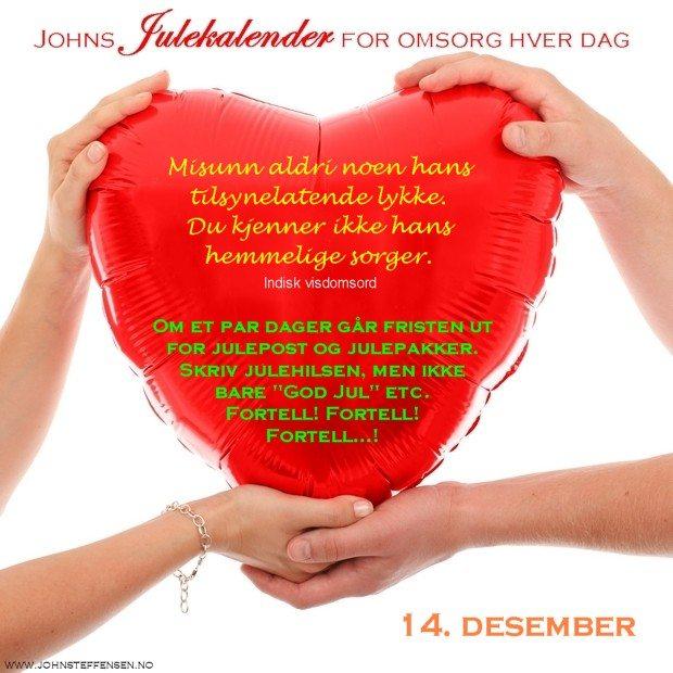 14 Johns julekalender www.johnsteffensen.no