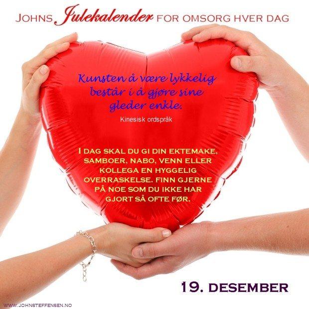 19 Johns julekalender www.johnsteffensen.no