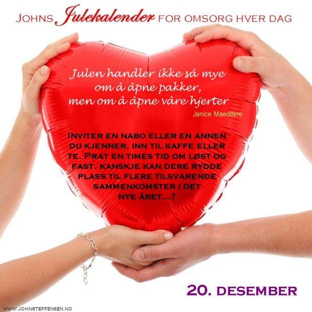 20 Johns julekalender www.johnsteffensen.no