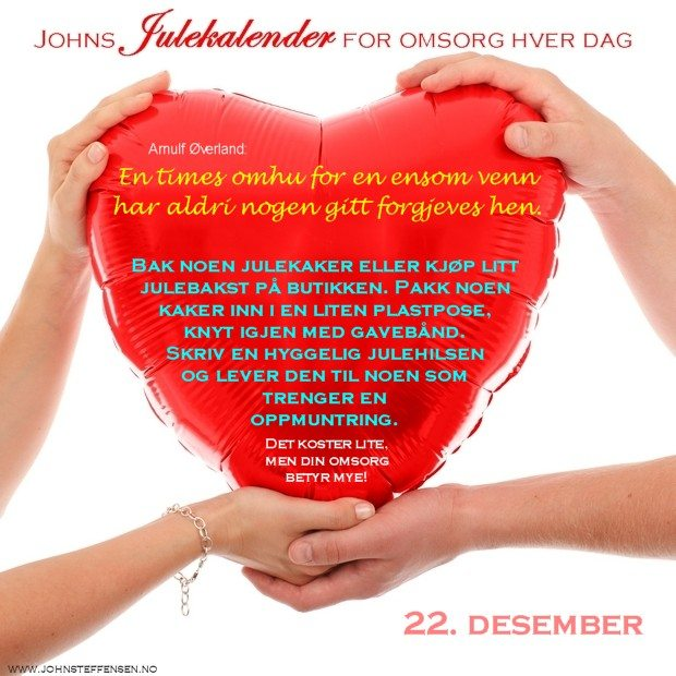 22 Johns julekalender www.johnsteffensen.no