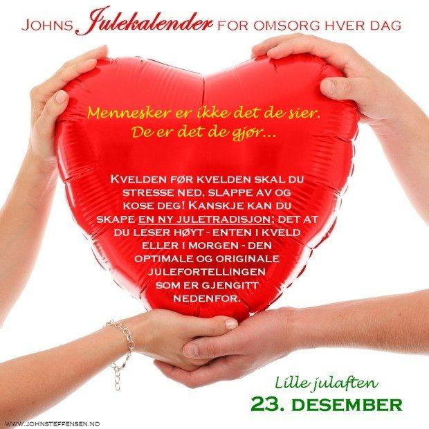 23 Johns julekalender www.johnsteffensen.no