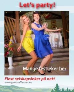 Flest selskapsleker for voksne: www.johnsteffensen.no