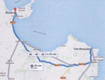 Viva Cala Mesquida Resort befinner seg cirka 1 times biltur sørøst for Alcudia. Når en ankommer Mallorca med fly, lander en i Palma de Mallorca, ca 90 minutters kjøring fra Cala Mesquida.