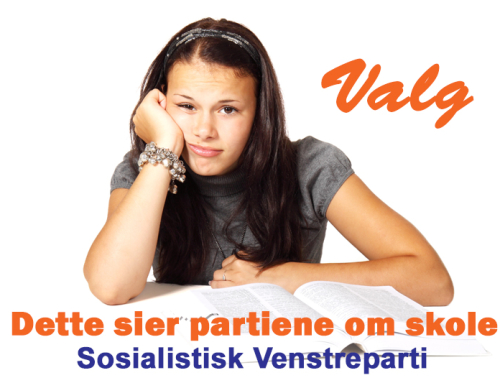 Sosialistisk Venstreparti vil ha maks 15 elever per lærer på 1. til 4. trinn, og 20 elever per lærer på 5. til 10. trinn