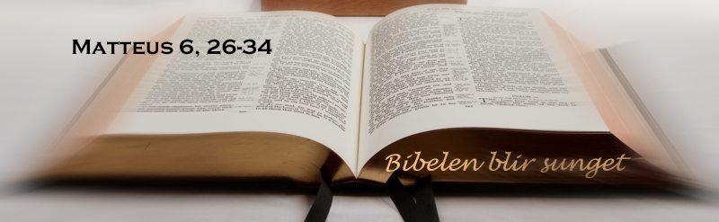 Bibelen blir sunget - eller Vær ikke bekymret, er Matteus 6, 26-34 sunget og spilt,