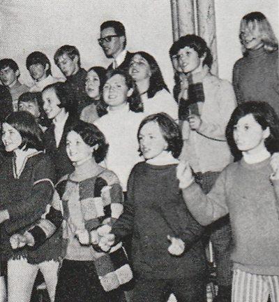 Fra en av de første øvelsene til Ten Sing, Bergen i 1967. 50 år senere (i 2017) skal begivenheten feires.