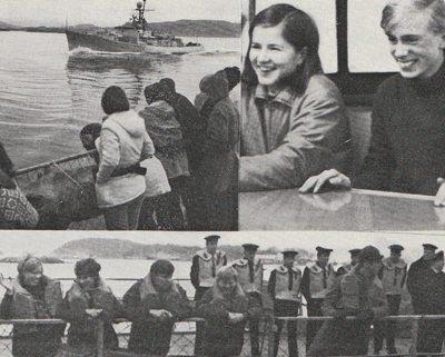 Det skortet ikke på velvilje overfor Ten Sing Bergen. Endatil Sjøforsvaret stilte opp og transporterte hele koret Bergen - Stavanger, tur-retur, mot at de to fregattene kunne trene litt underveis.