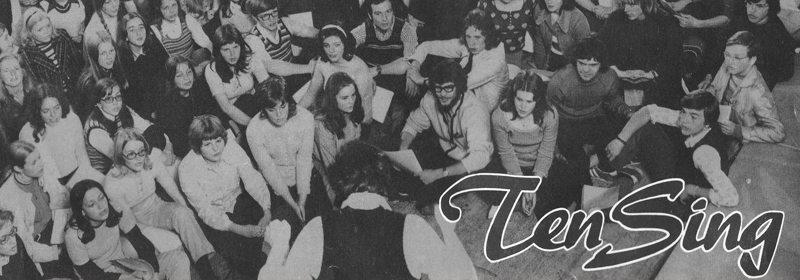 En del av Ten Sing Bergen i 1972