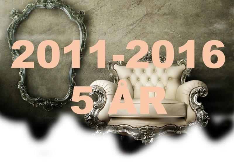 7. september 2016 er det fem år siden johnsteffensen.no så dagens lys.