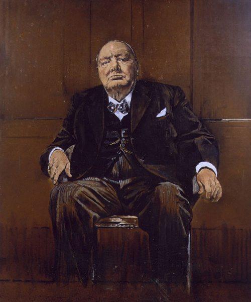 """Portrettet som Sir Winston Churchill ikke kunne fordra... Churchill er en gjenganger i flere av episodene av """"The Crown"""", men så ga også Dronning Elizabeth II flere ganger uttrykk for sin store takknemlighet til ham."""