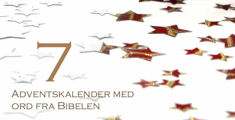 Adventskalender med ord fra Bibelen - 7. desember - www.johnsteffensen.no
