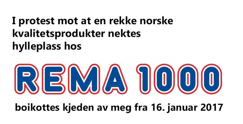 Jeg protesterer mot Rema 1000 sin skvis av norske produkter