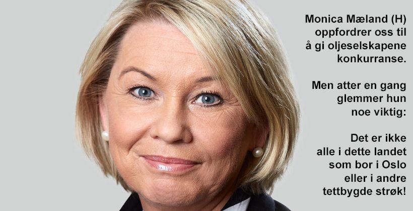 Næringsminister Monica Mæland vil at norske bileiere skal utfordre oljeselskapene på pris. Det er lettere sagt enn gjort...