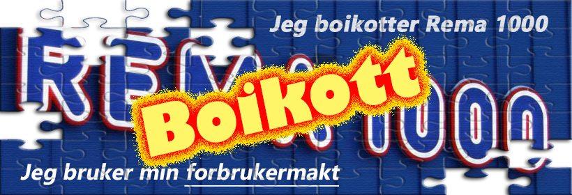 I solidaritet med alle dem som mister jobben pga. at Rema boikotter en rekke norske produsenter, boikotter jeg nå Rema 1000 på ubestemt tid. www.johnsteffensen.no