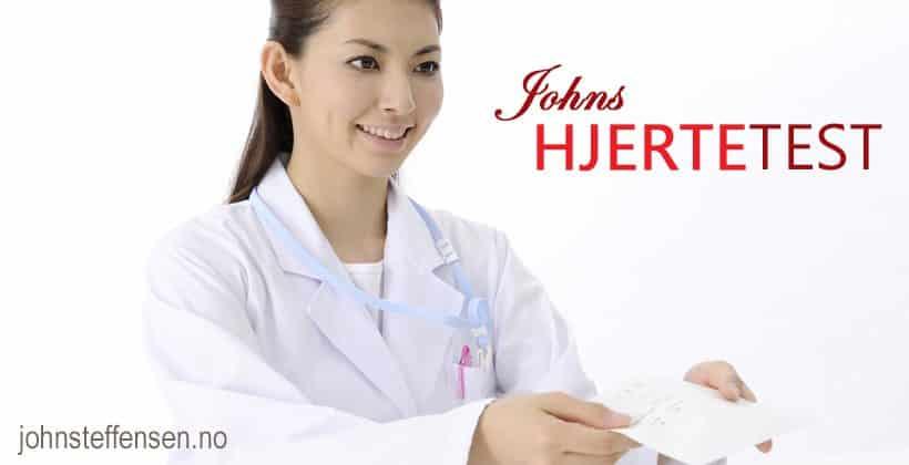 Johns hjertetest. Test dine kunnskaper om hjerte- og karsykdommer. Interaktiv quiz. www.johnsteffensen.no