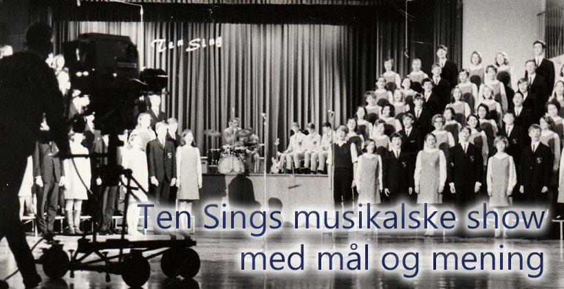Slik var innholdet i Ten Sing Bergens aller første show i 1968, programmet som tok landet med storm. www.johnsteffensen.no