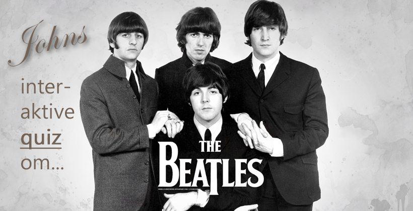 Test dine kunnskaper om The Beatles i denne interaktive quiz. www.johnsteffensen.no