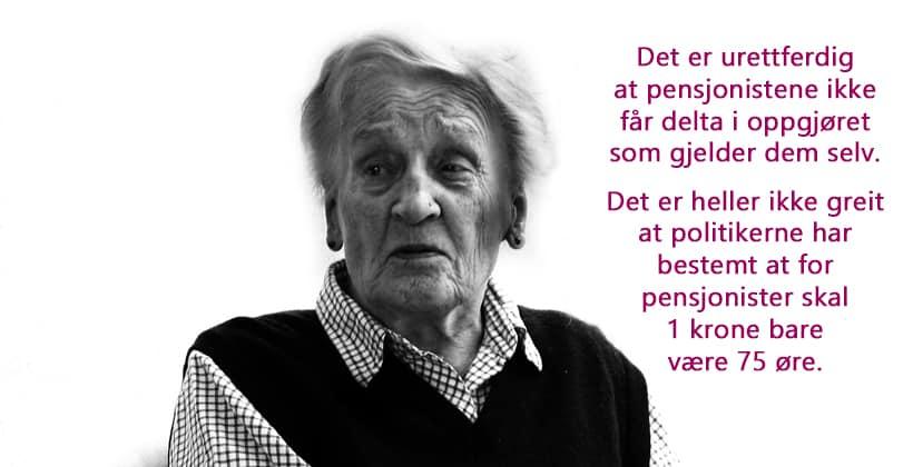 Pensjonistene føler seg tilsidesatt og utelatt av politikerne. www.johnsteffensen.np