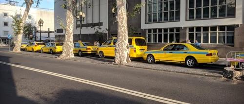 Taxier i Funchal sentrum