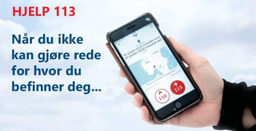 HJELP 113. Appen som løser et vesentlig problem. www.johnsteffensen.no
