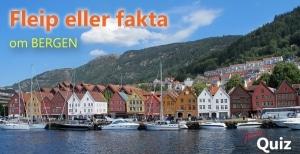 Interaktiv quiz om Bergen. Fleip eller fakta?
