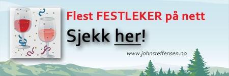 Flest selskapsleker for voksne finner du på www.johnsteffensen.no