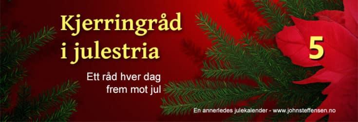 Kjerringråd i julestria. www.johnsteffensen.no